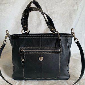 Coach Black Leather Shopper Medium/Large